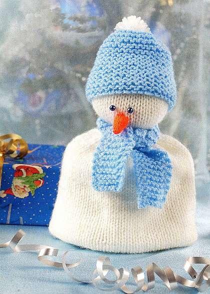 Снеговик-грелка на кружку.