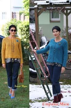 Несколько пуловеров из остатков. Описание и схемы. Крючок