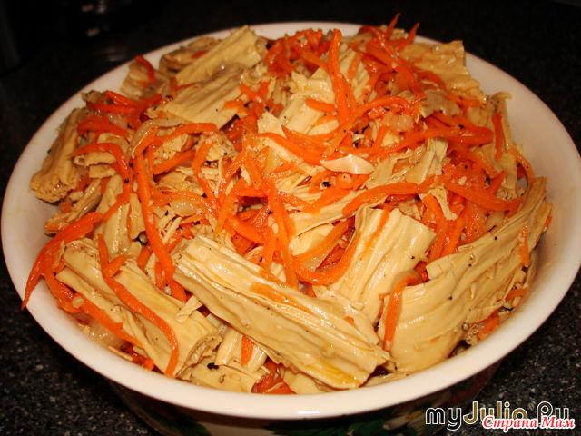 Салат спаржа по-корейски