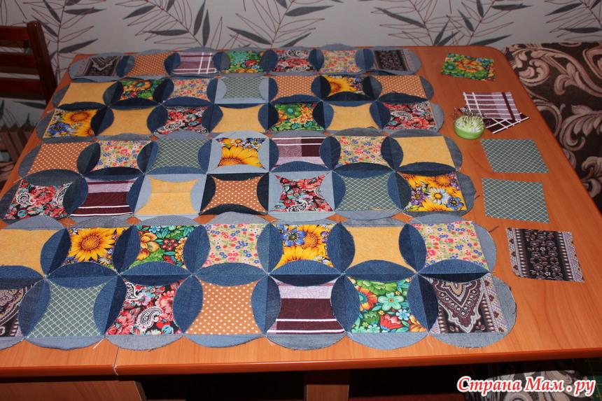 Джинсовые коврик своими руками