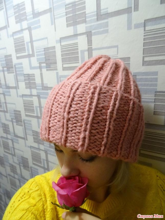 Связать шапку из пехорки осенняя