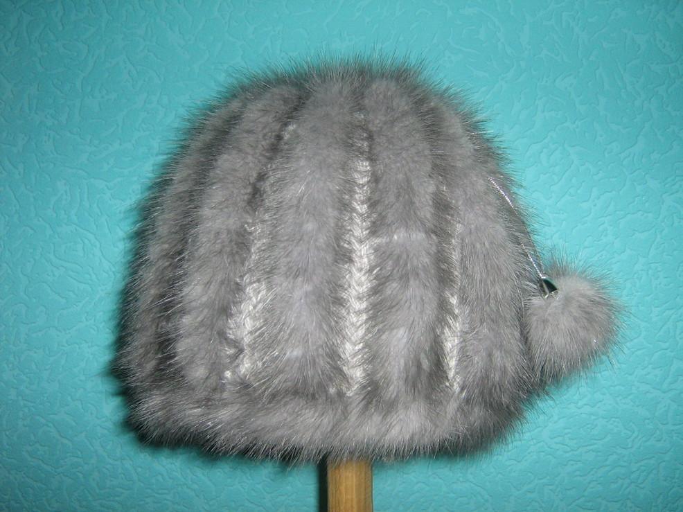Вязанные шапки из норки своими