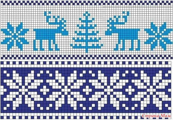 скандинавские узор схема вязания