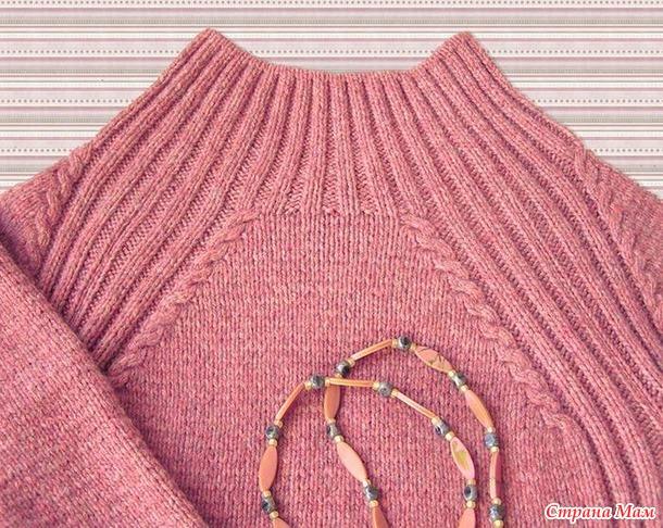 . Пуловер с кокеткой и регланом, свитер.