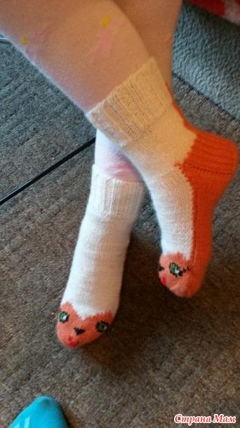 """Бабушкины носочки """"Рыжий кот"""". Вяжем вместе он-лайн. Но получается мой пошаговый МК."""