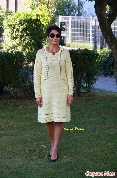 Платье-оверсайз цвета лайм. Крючок