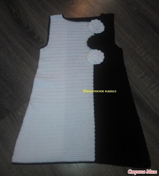 вязание платья крючком видео мк