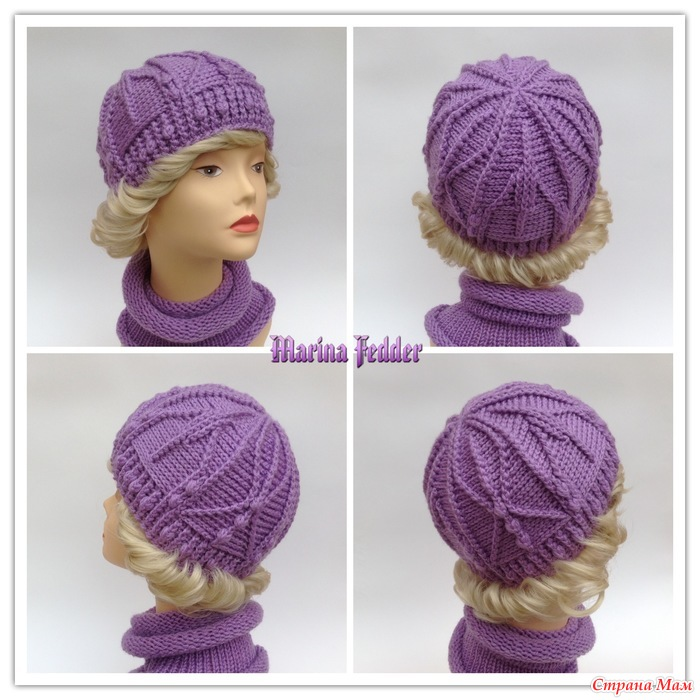 Рукоделие вязание спицами шапки 28