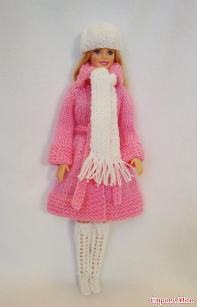 Вязание крючком пальто для барби 10