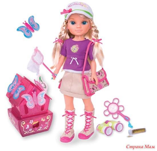 кукла famosa нэнси ловит бабочек