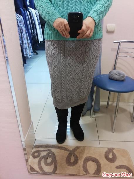 Платье кельтскими аранами