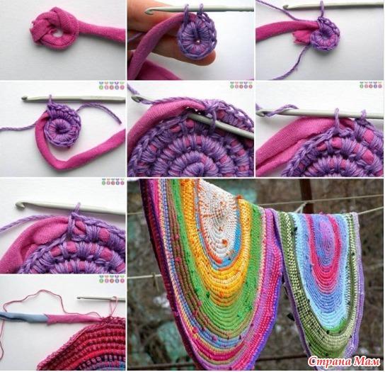 Как нарезать трикотаж для вязания
