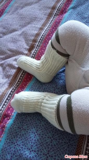 Как на вязальной машине связать носки