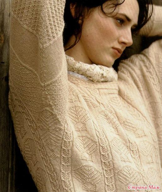 вязание рыбацкий свитер
