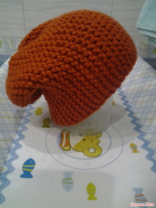 Вязание шапки поперечным вязанием укороченными рядами