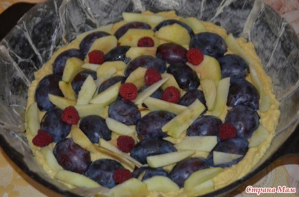 Обалденно вкусный сливовый пирог с хрустящими крамблом
