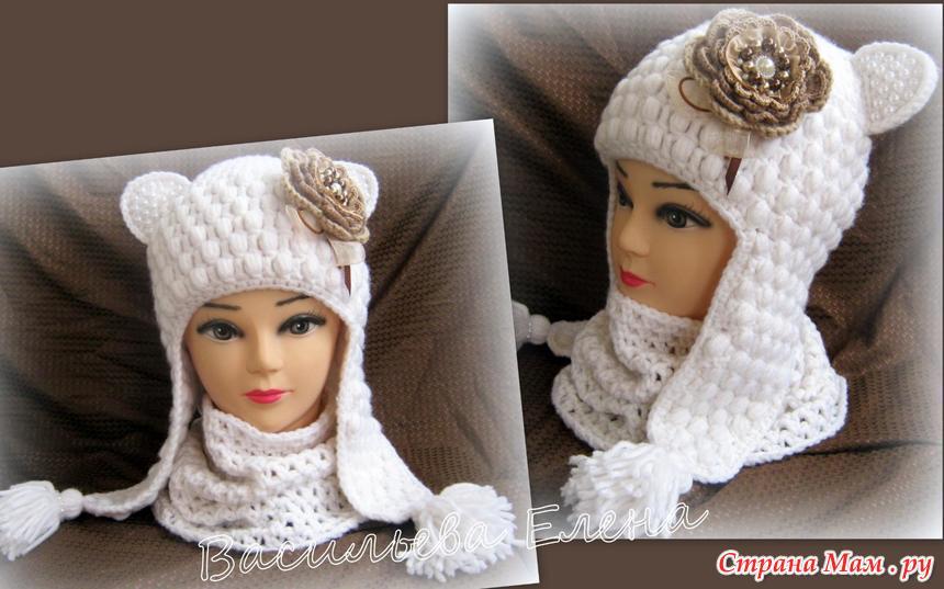 """钩针童猫帽子""""冬天的季节""""(大师班)第二部分 - maomao - 我随心动"""