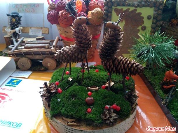 Поделки из природного материала на выставку осень