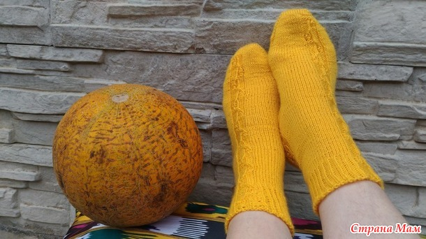 Носки Knitting Goddess... и божественная дыня...