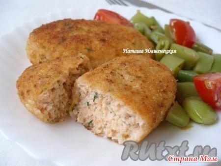 Рыбные котлеты из семги рецепт с фото