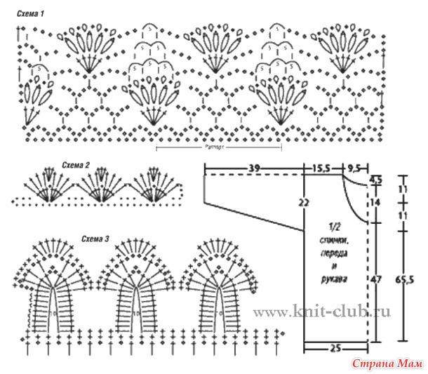 Вязанные летние женские кофточки со схемами