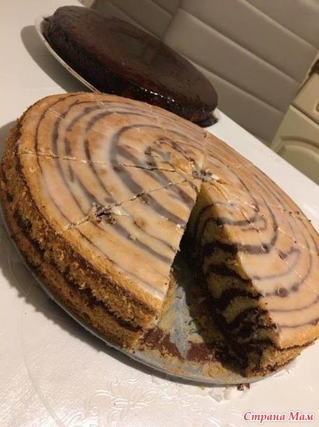 """"""" Зебра"""" и """" Манник""""  любимые пироги моей семьи."""