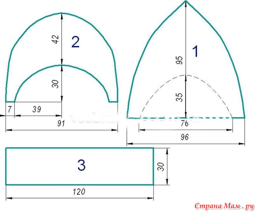 Кепка восьмиклинка: выкройка для кройки и шитья