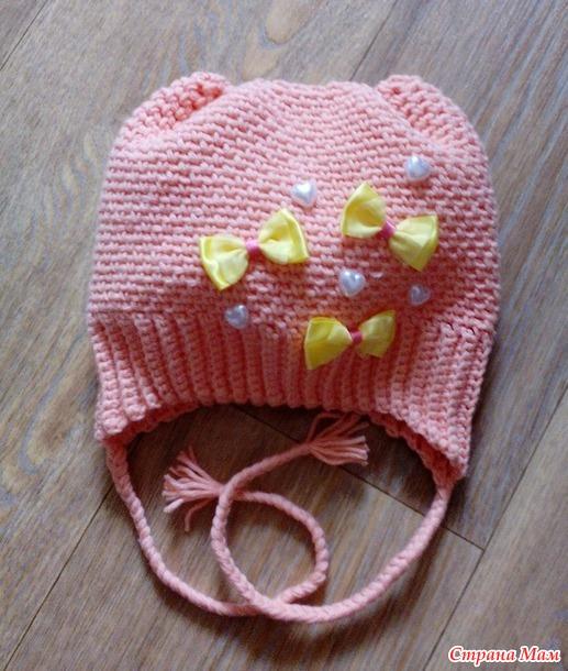 Простая шапка для малышей. МК