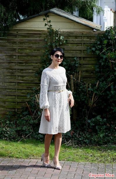 Платье в этническом стиле. Филейка. Крючок.