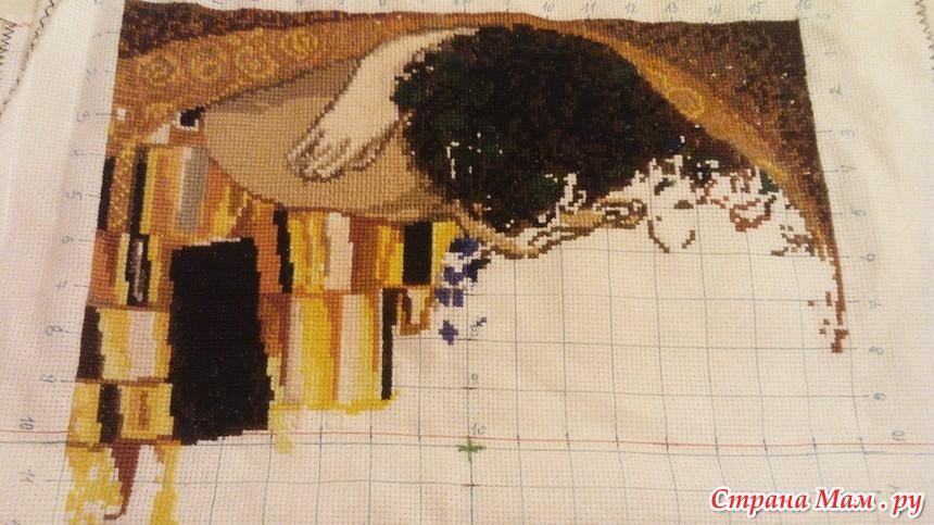 Вышивка с репродукции картины 821