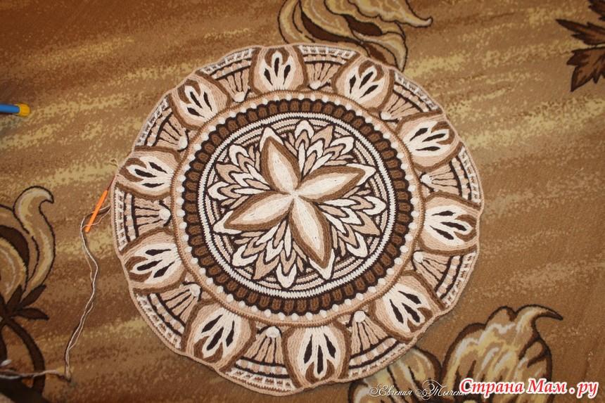 """钩针教程:""""五月""""—曼陀罗垫子(第4部分) - maomao - 我随心动"""