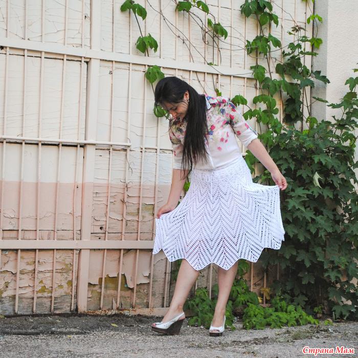 Вязание спицами пояс для юбки