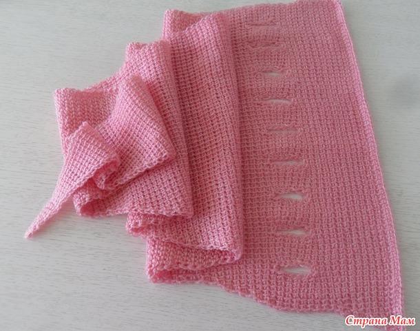 Шарф - платок тунисским вязанием
