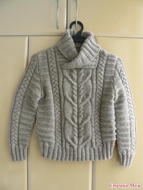 Рельефный свитер для мальчика.
