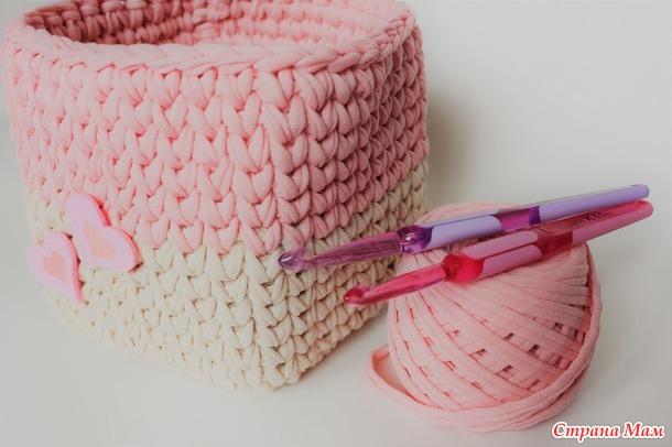 Коробка вязание крючком для крючок