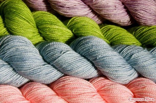 Сочетание цвета в пряже