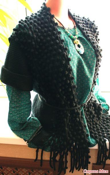 Жакет «Черный жемчуг» с коротким рукавом