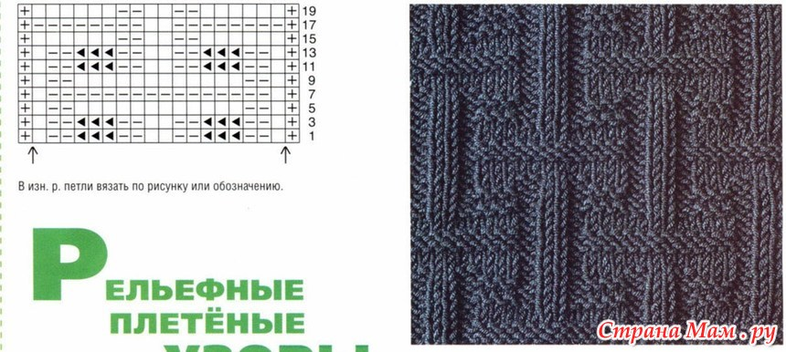 Вязание рисунок кирпичики 77