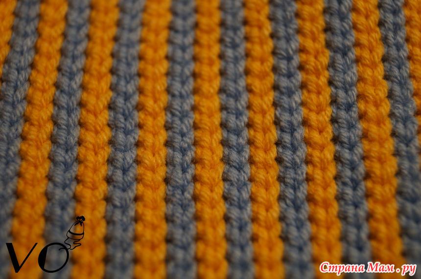 Правила смены нити при вязании крючком, жаккардовое 12