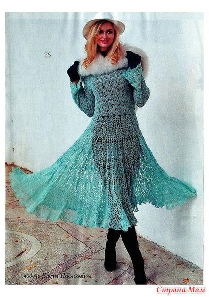 Ажурные веера платье