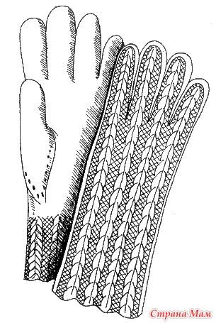 """. Замечательное пособие """"Самоучитель по вязанию"""". Продолжение. Урок 26. Вязание ажурных перчаток."""