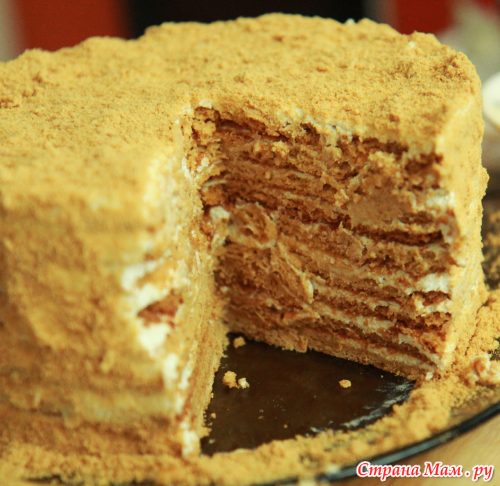 Торт рыжик рецепт с фото со сметанным