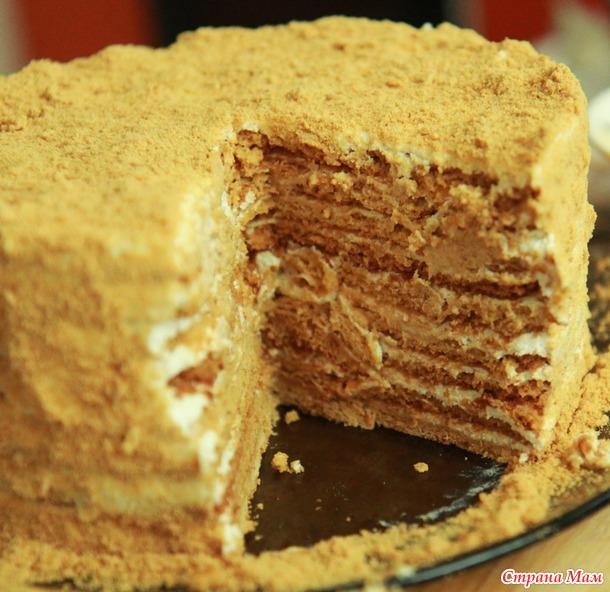 Рыжик торт рецепт с сметанным кремом с фото пошагово