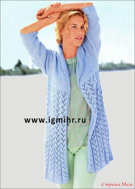 вязание ажурный жакет
