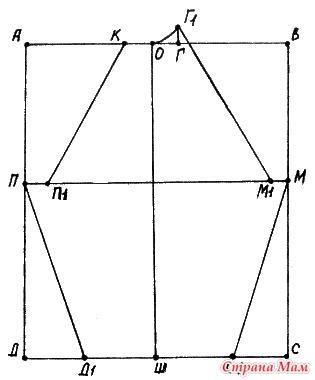 """. Замечательное пособие """"Самоучитель по вязанию"""". Продолжение. Урок 29. Построение выкройки-основы кофточки с вшивным рукавом."""