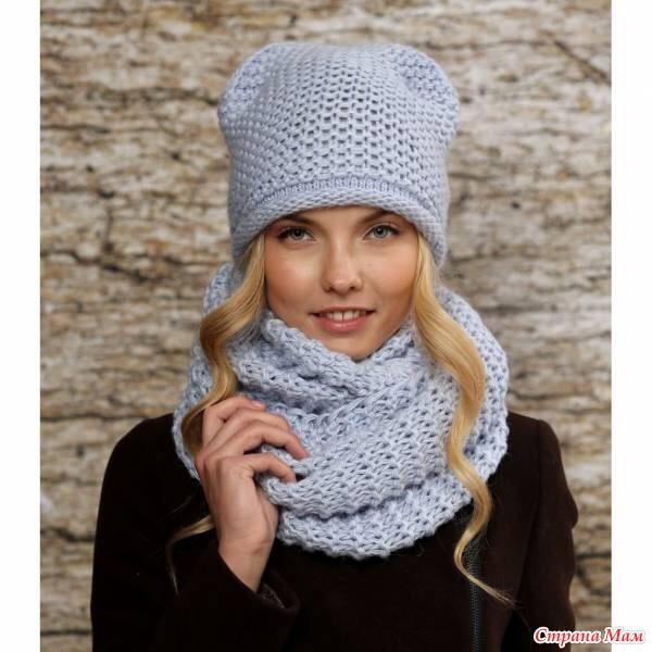 Вязание шапок и снудов 10