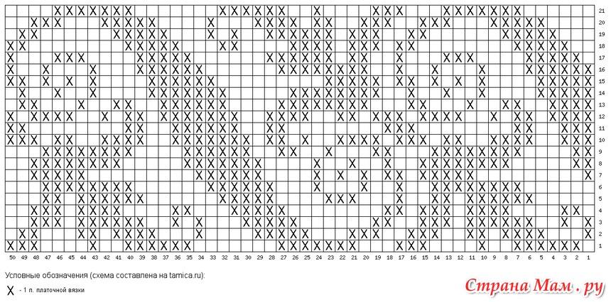 Схемы для двустороннего вязания 70