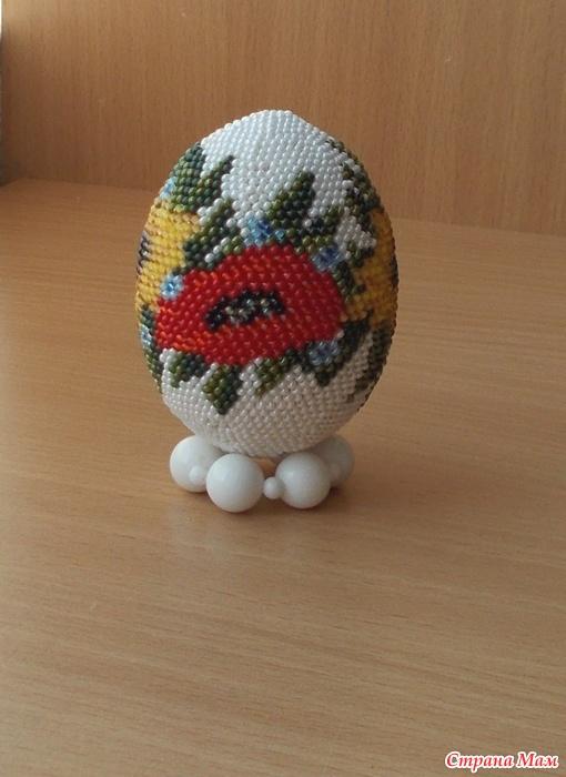 Вязание яиц крючком с бисером