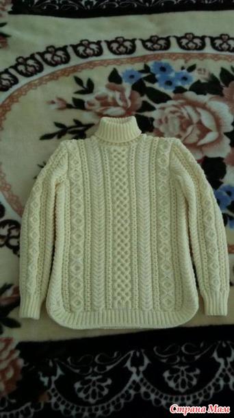 Вязание свитер геометрия