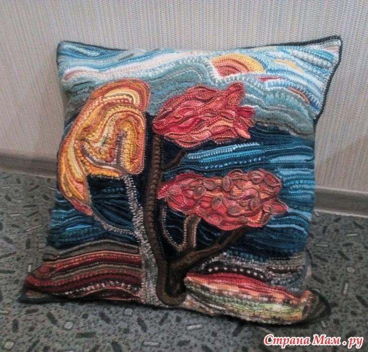 """钩针:沙发靠垫套""""秋天"""" - maomao - 我随心动"""